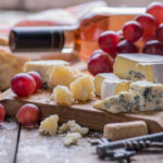A photo of wine and cheese - having these together may help your teeth!